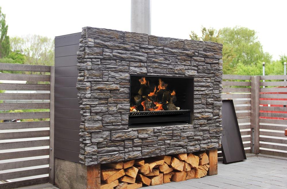 EW Series - Outdoor Wood Fireplace