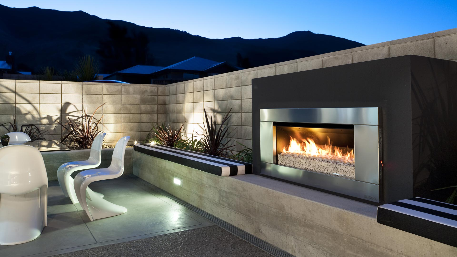 Escea Ef5000 Outdoor Gas Fireplace Escea Outdoor Fires