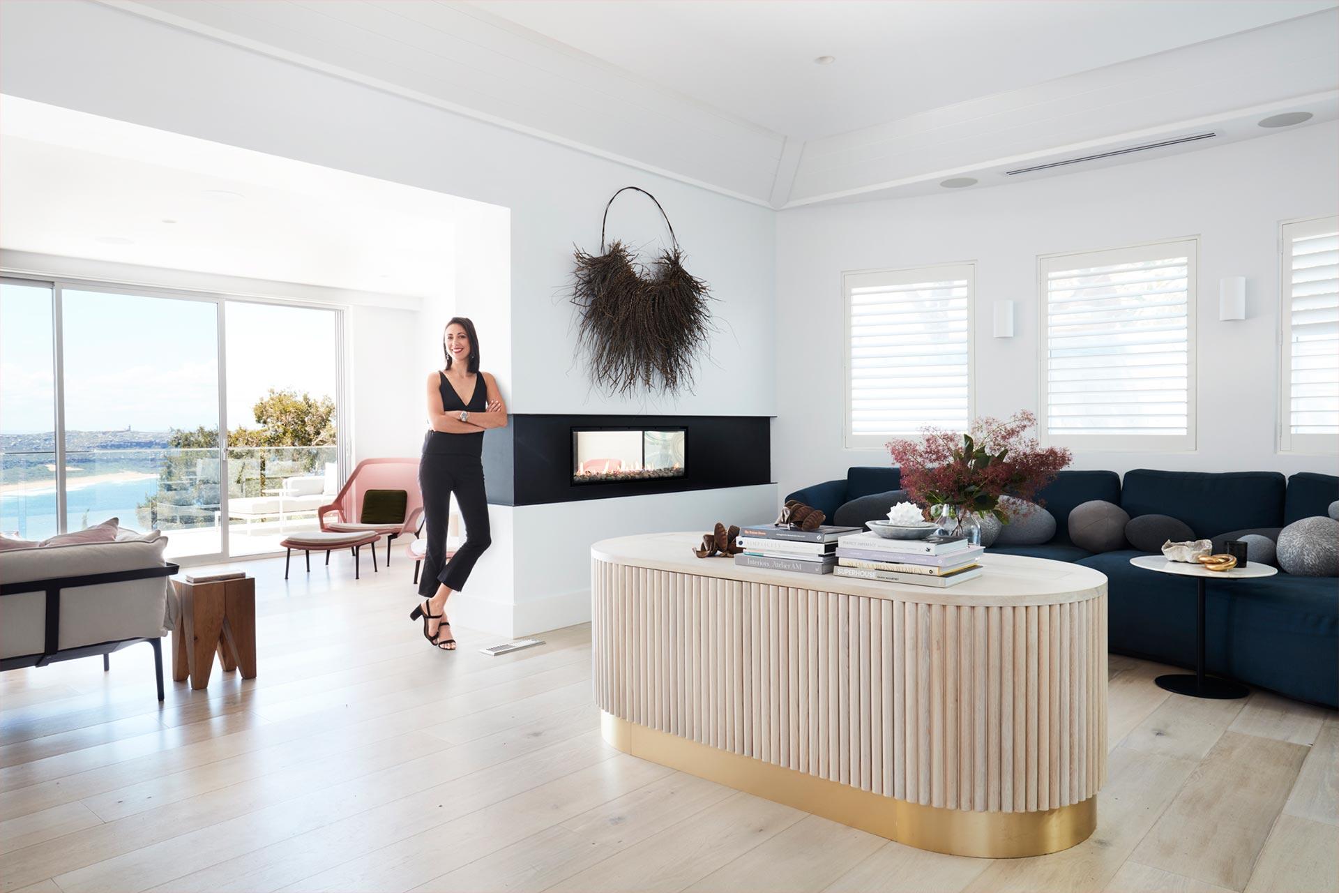 Nina Maya s Double Sided Fireplace Design