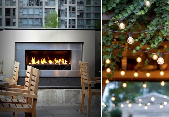 Fire + lights