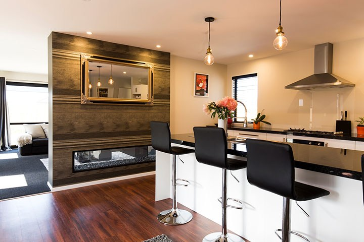 Fireplace Inspires New Home Build