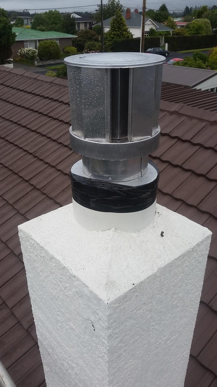 View of top of chimney