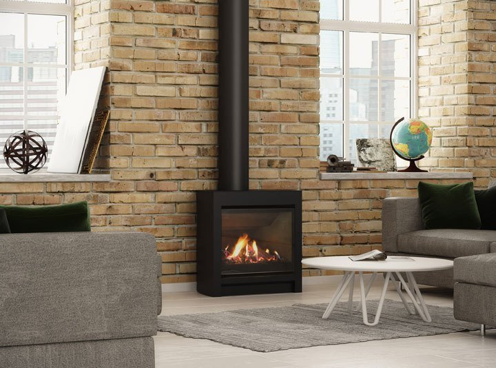 New Freestanding Dfs730 Gas Fire