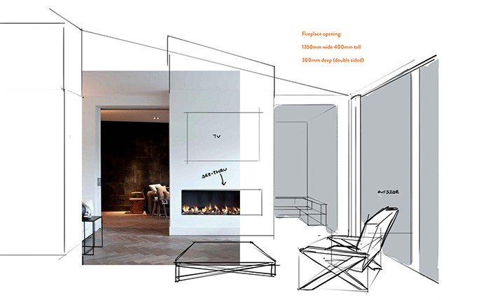 New product release the DS1400 gas fireplace