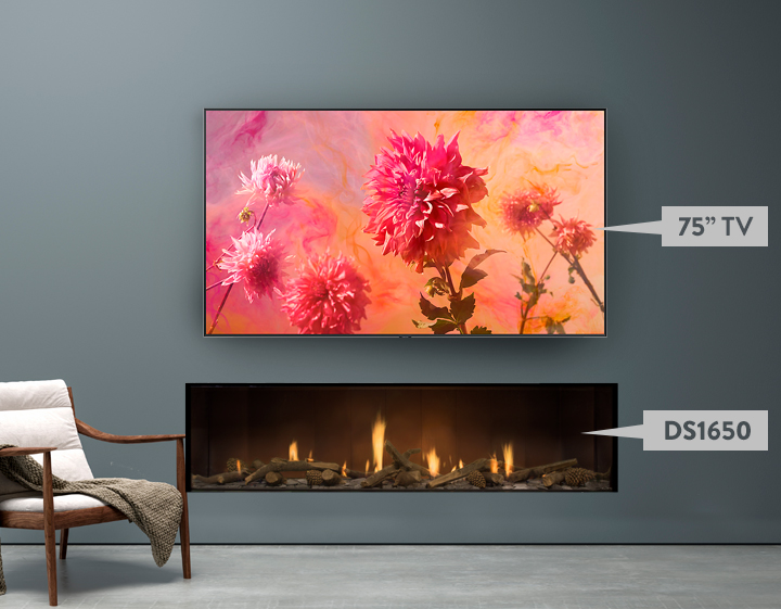 Match your TV size to your fireplace
