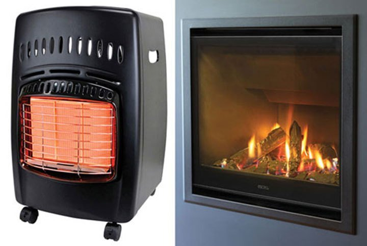 What is the difference between unflued and flued gas heaters