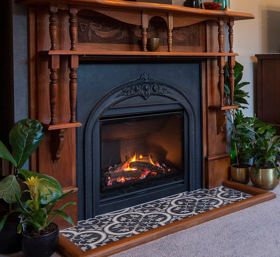 Cosy modern fireplace update for Edwardian Villa