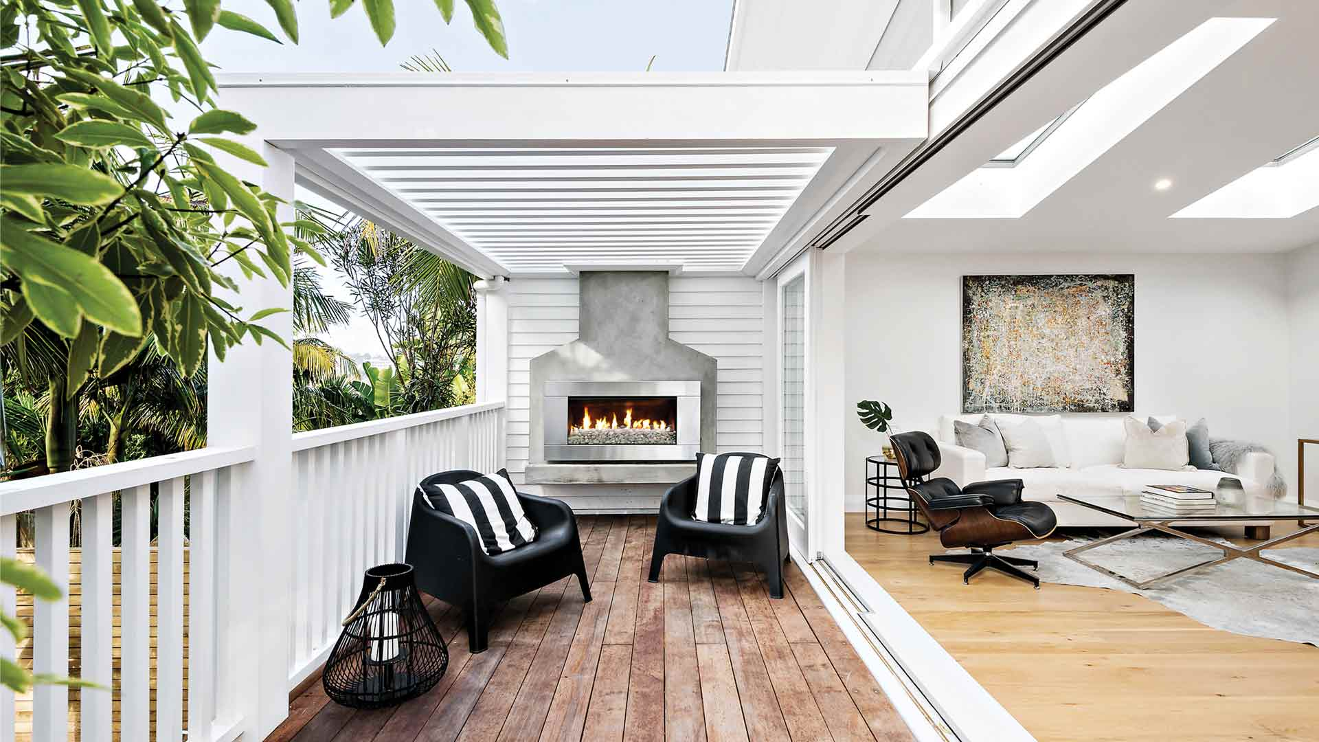 A Californian Bungalow Renovation with Escea Outdoor Gas Fireplace