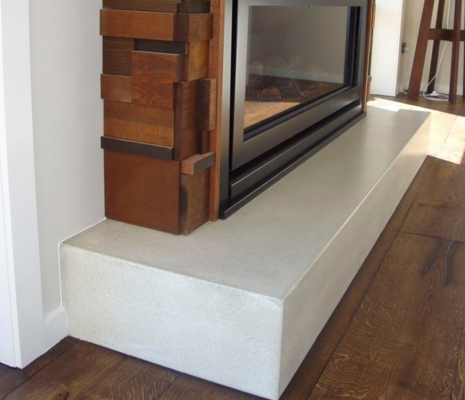 Surround Series - concrete fireplace surrounds