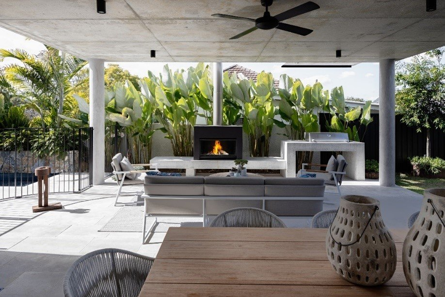 Engaging the Elements - Two Escea Fireplaces Create Indoor Outdoor Flow