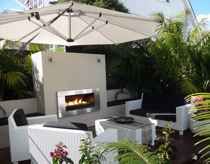 escea ef5000 gas fireplace courtyard