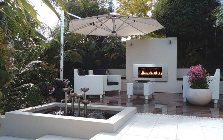 escea ef5000 gas fireplace courtyard