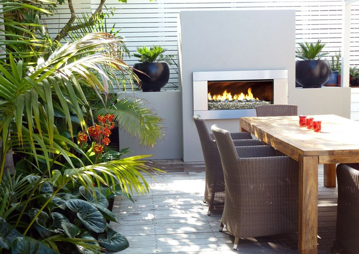 escea ef5000 outdoor fireplace dinning