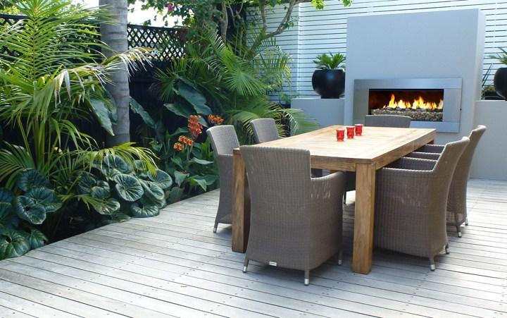 escea ef5000 outdoor fireplace dinning