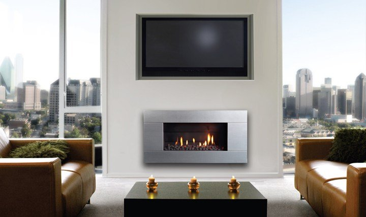 Escea ST900 indoor gas fireplace does not need any external power supply as they have a battery back?up option and will work in case of power outage.