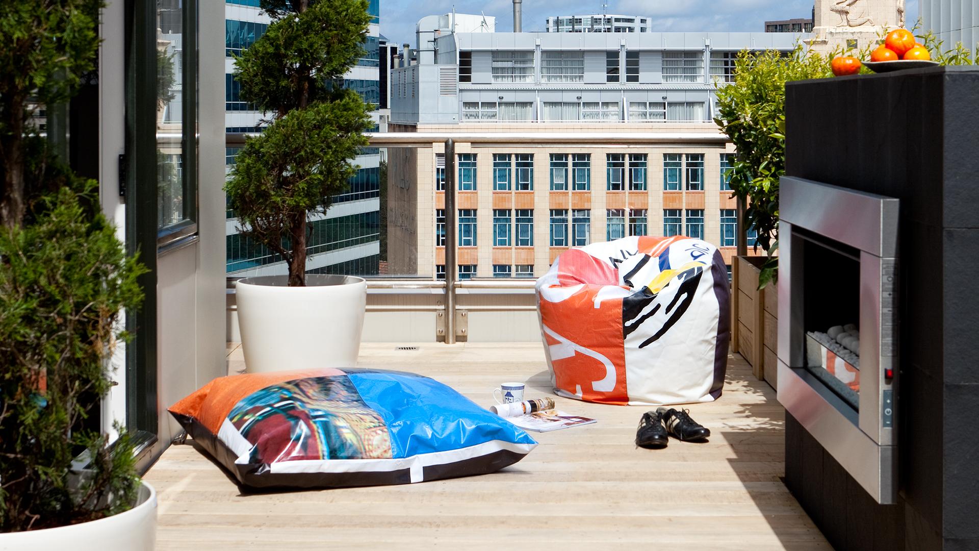 An interior designer's urban rooftop oasis