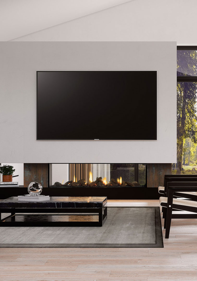4 Ways to Position your TV and Fireplace Together