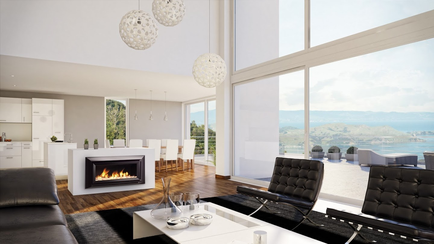 Fancy a fireplace in your kitchen?