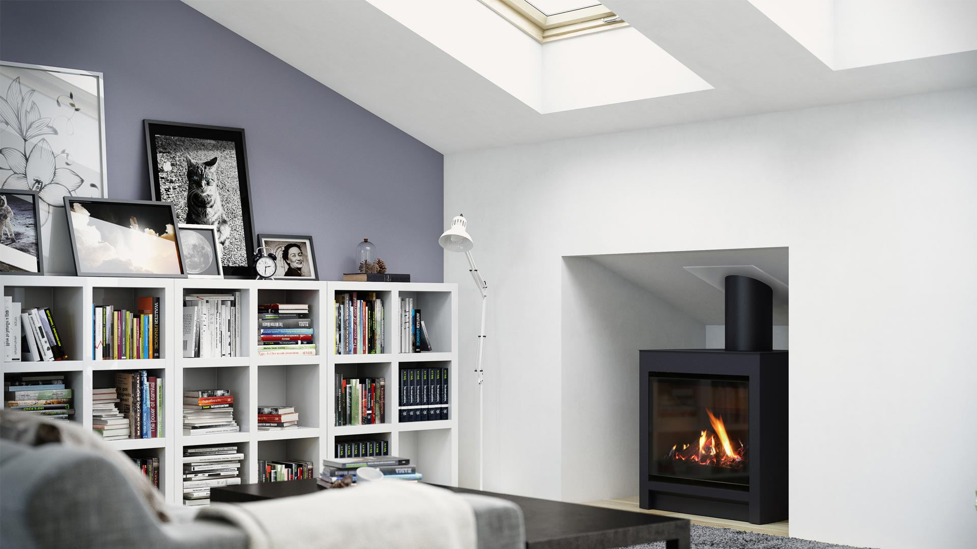 Freestanding Gas Fire In Roomset