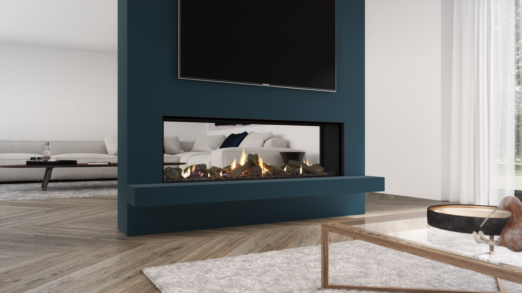 Frameless Gas Fire